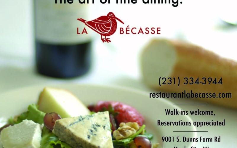 The Art of Fine Dining - ad design for La Becasse Restaurant